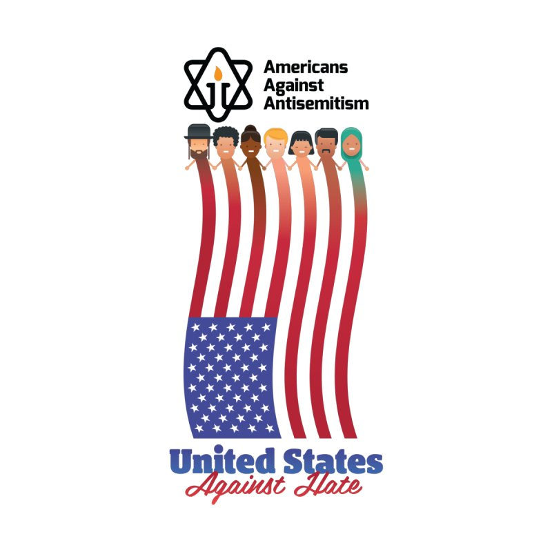United Faces Against Hate Men's Cut & Sew by Americans Against Antisemitism's Artist Shop