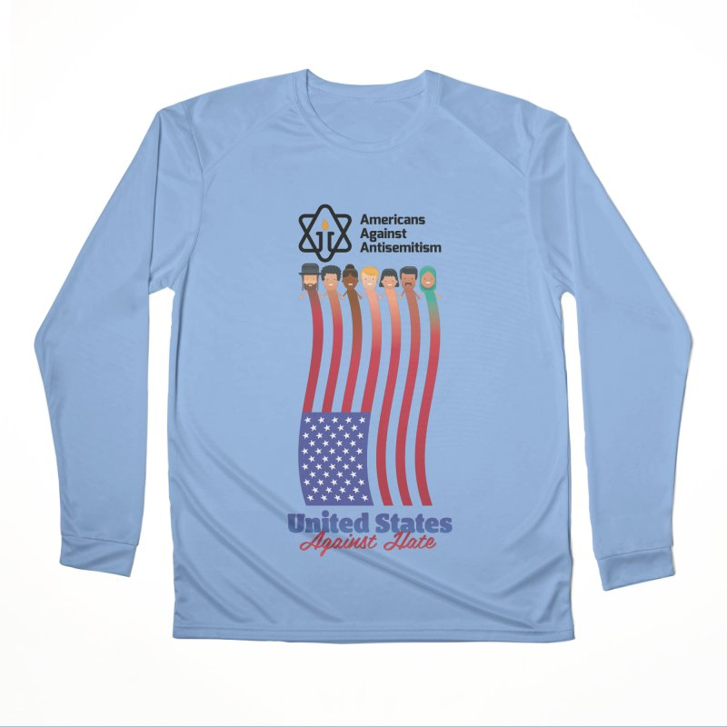 United Faces Against Hate Women's Longsleeve T-Shirt by Americans Against Antisemitism's Artist Shop