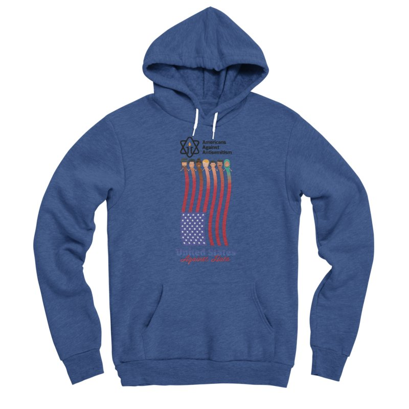 United Faces Against Hate Women's Sponge Fleece Pullover Hoody by Americans Against Antisemitism's Artist Shop