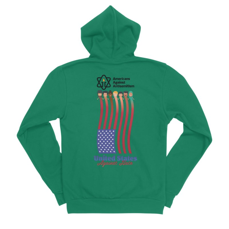 United Faces Against Hate Men's Sponge Fleece Zip-Up Hoody by Americans Against Antisemitism's Artist Shop