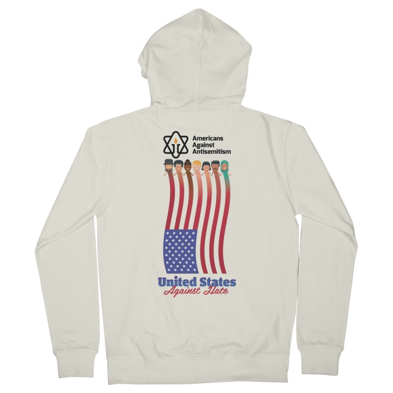 United Faces Against Hate Women's French Terry Zip-Up Hoody by Americans Against Antisemitism's Artist Shop