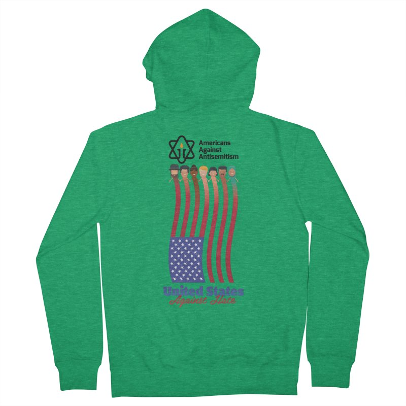 United Faces Against Hate Men's French Terry Zip-Up Hoody by Americans Against Antisemitism's Artist Shop