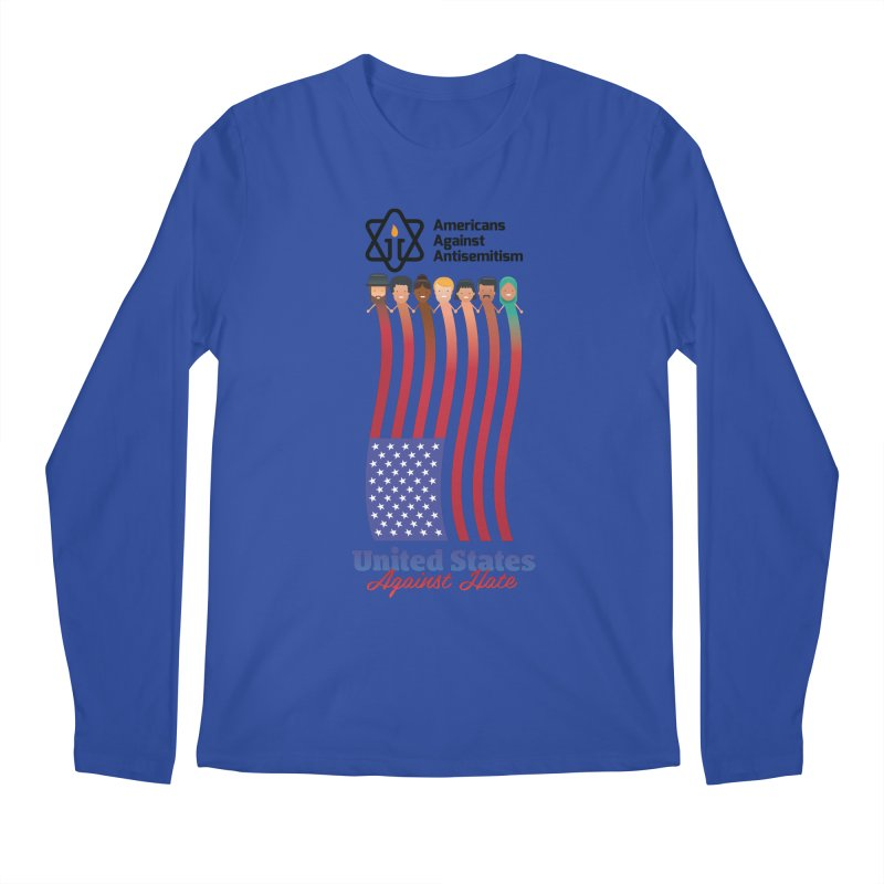 United Faces Against Hate Men's Regular Longsleeve T-Shirt by Americans Against Antisemitism's Artist Shop