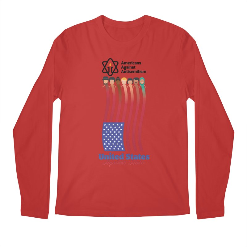 United Faces Against Hate Men's Longsleeve T-Shirt by Americans Against Antisemitism's Artist Shop