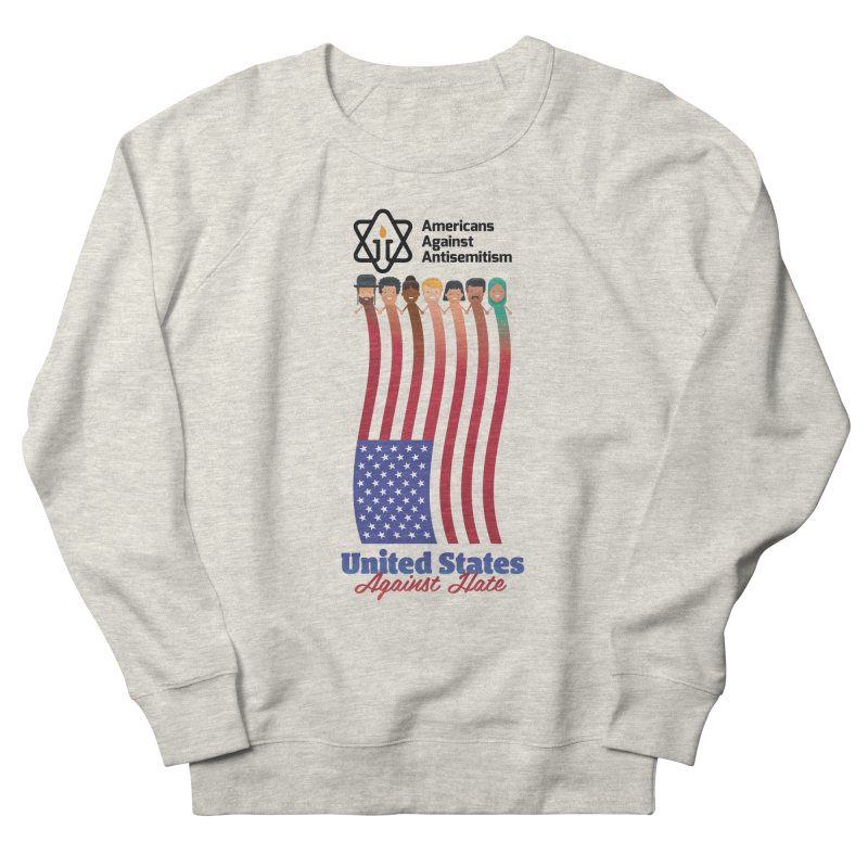 United Faces Against Hate Men's French Terry Sweatshirt by Americans Against Antisemitism's Artist Shop