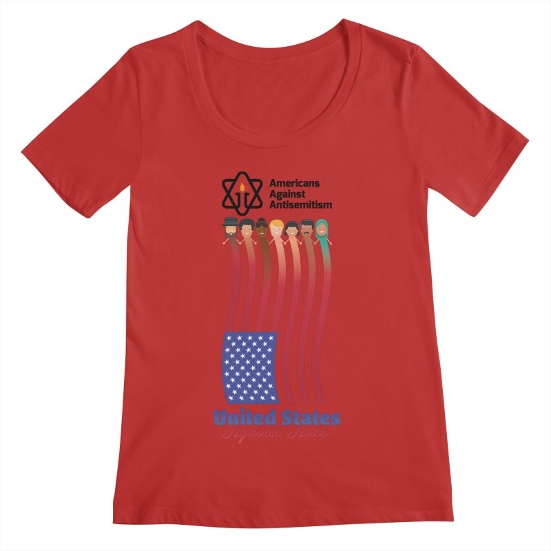 United Faces Against Hate Women's Regular Scoop Neck by Americans Against Antisemitism's Artist Shop