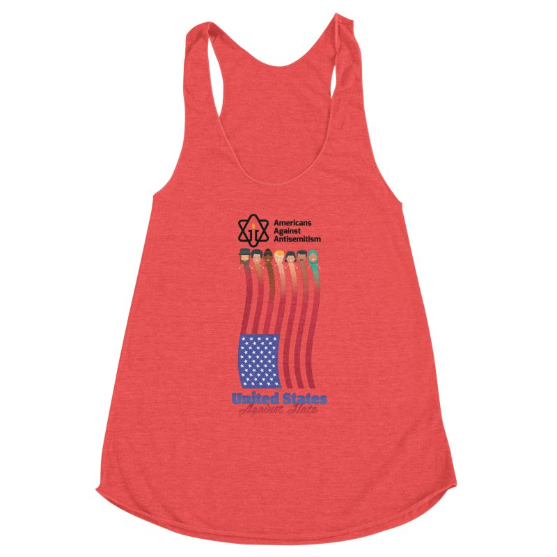 United Faces Against Hate Women's Tank by Americans Against Antisemitism's Artist Shop