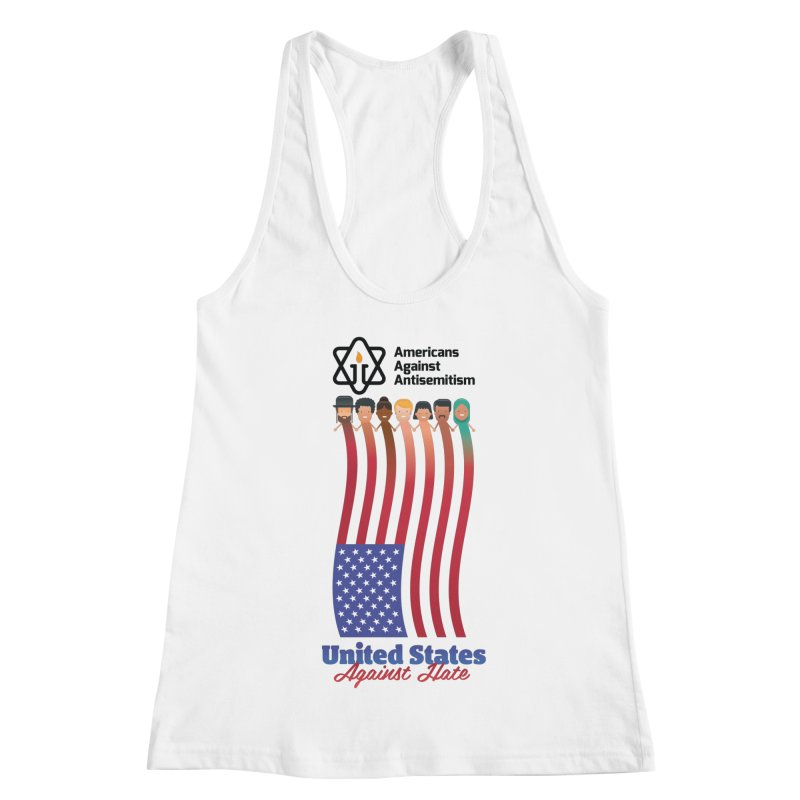 United Faces Against Hate Women's Racerback Tank by Americans Against Antisemitism's Artist Shop