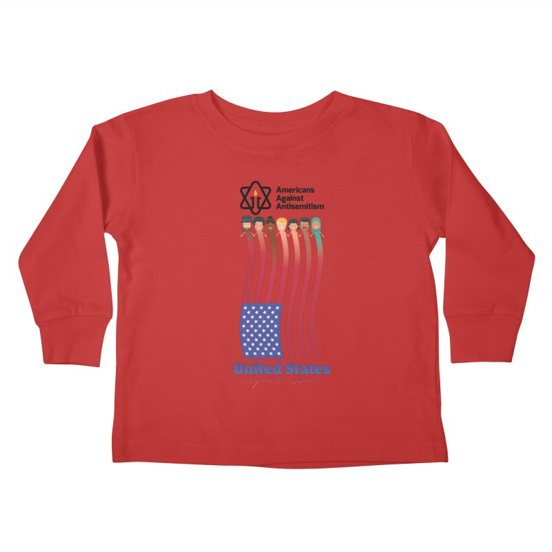 United Faces Against Hate Kids Toddler Longsleeve T-Shirt by Americans Against Antisemitism's Artist Shop