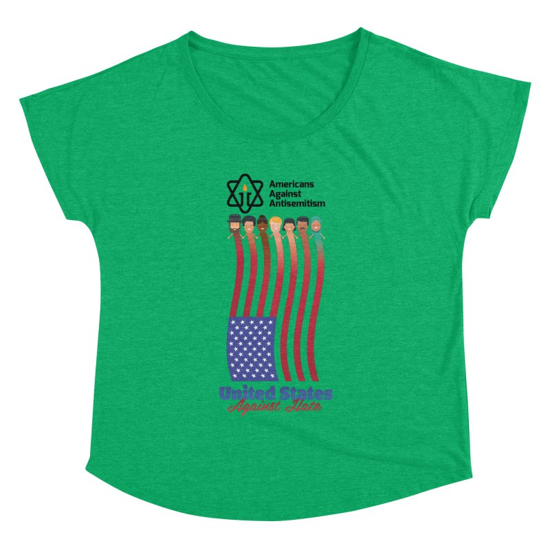United Faces Against Hate Women's Dolman Scoop Neck by Americans Against Antisemitism's Artist Shop