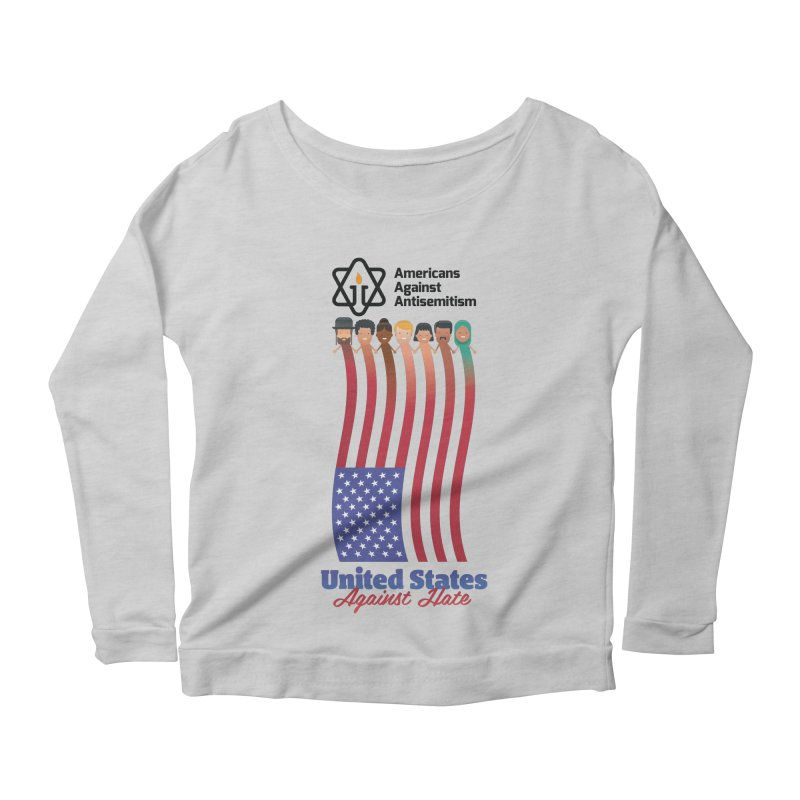 United Faces Against Hate Women's Scoop Neck Longsleeve T-Shirt by Americans Against Antisemitism's Artist Shop