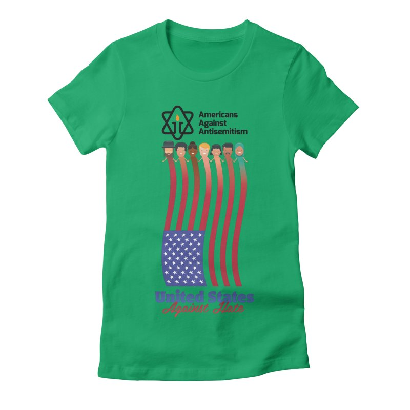 United Faces Against Hate Women's Fitted T-Shirt by Americans Against Antisemitism's Artist Shop