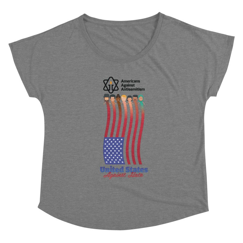 United Faces Against Hate Women's Scoop Neck by Americans Against Antisemitism's Artist Shop