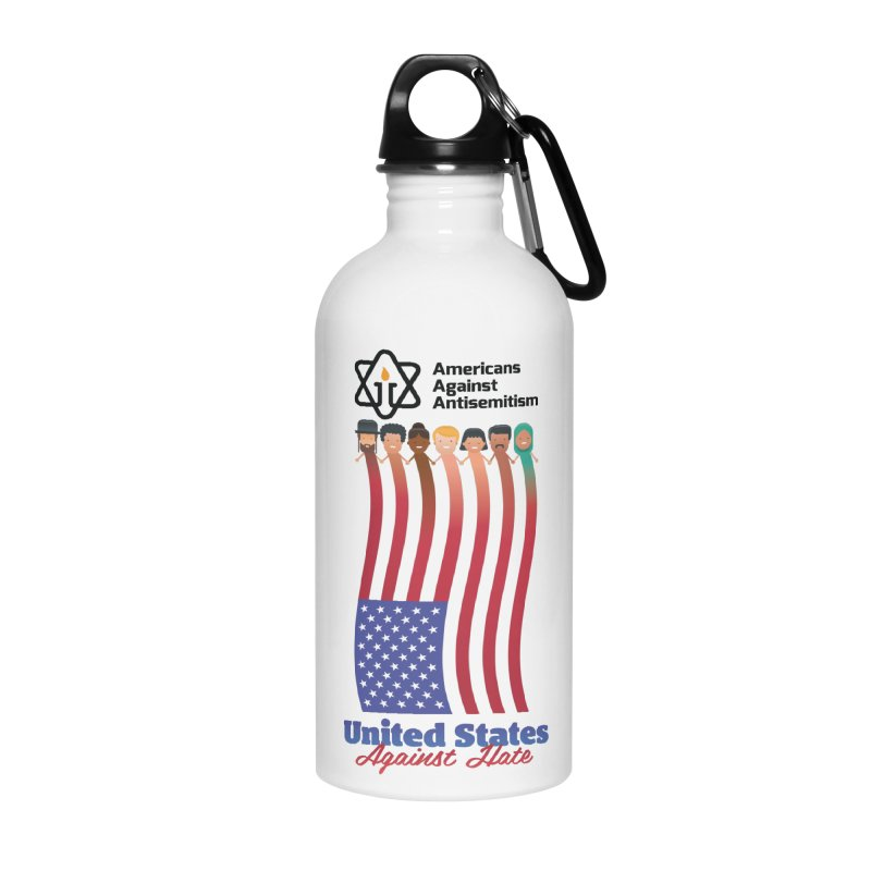 United Faces Against Hate Accessories Water Bottle by Americans Against Antisemitism's Artist Shop