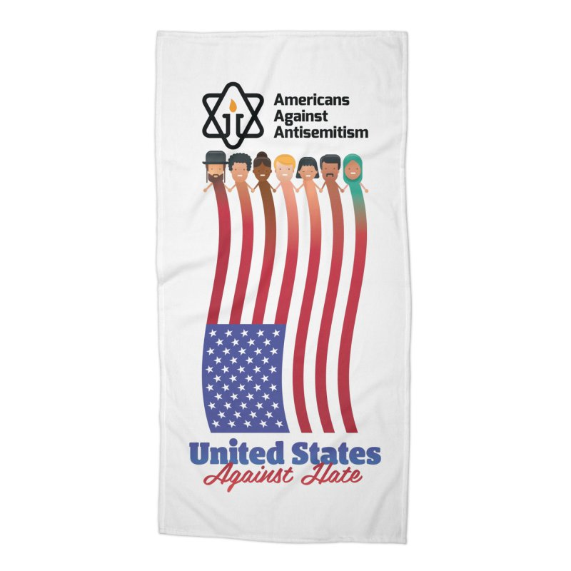 United Faces Against Hate Accessories Beach Towel by Americans Against Antisemitism's Artist Shop