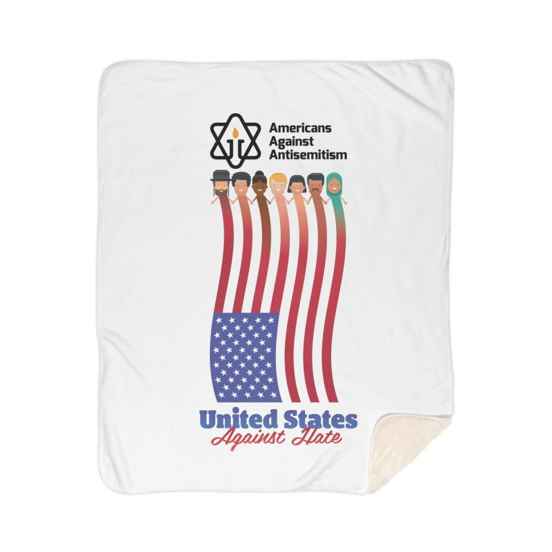 United Faces Against Hate Home Sherpa Blanket Blanket by Americans Against Antisemitism's Artist Shop