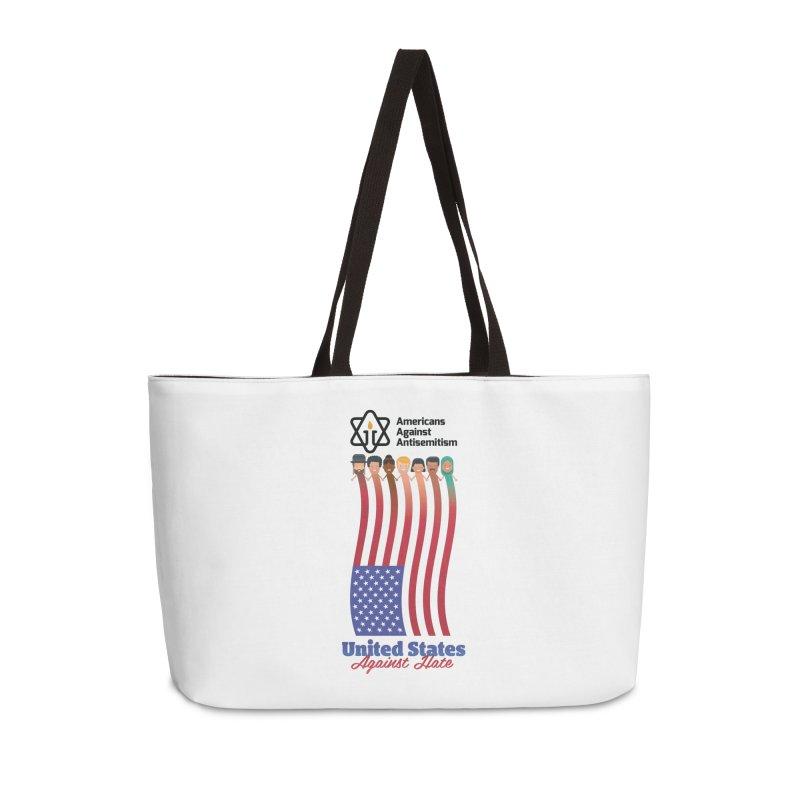 United Faces Against Hate Accessories Weekender Bag Bag by Americans Against Antisemitism's Artist Shop