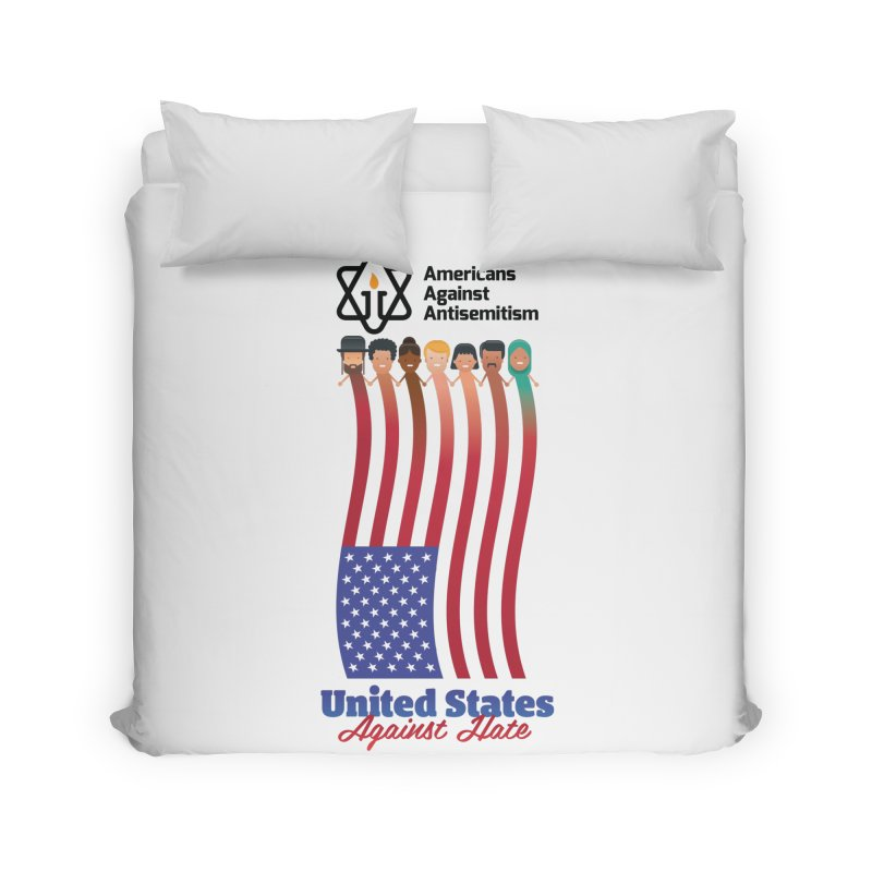 United Faces Against Hate Home Duvet by Americans Against Antisemitism's Artist Shop