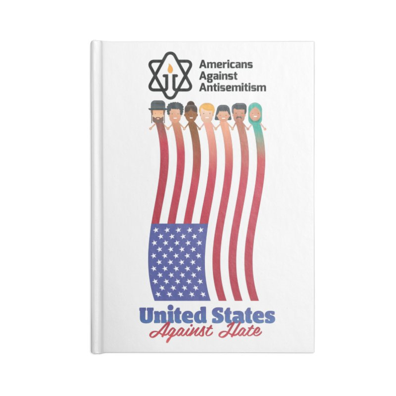 United Faces Against Hate Accessories Lined Journal Notebook by Americans Against Antisemitism's Artist Shop