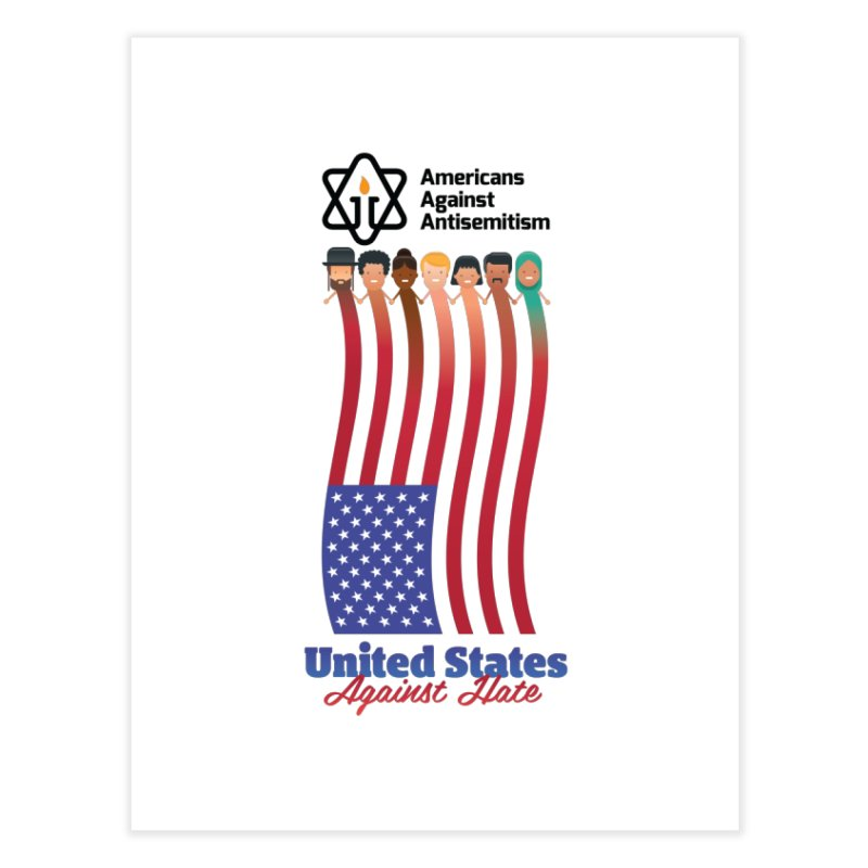 United Faces Against Hate Home Fine Art Print by Americans Against Antisemitism's Artist Shop