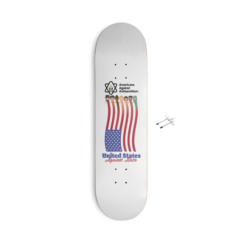 United Faces Against Hate Accessories With Hanging Hardware Skateboard by Americans Against Antisemitism's Artist Shop