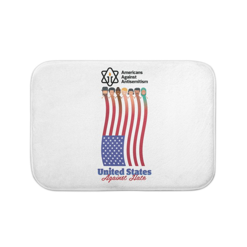 United Faces Against Hate Home Bath Mat by Americans Against Antisemitism's Artist Shop