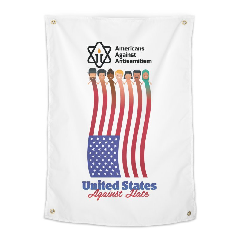 United Faces Against Hate Home Tapestry by Americans Against Antisemitism's Artist Shop