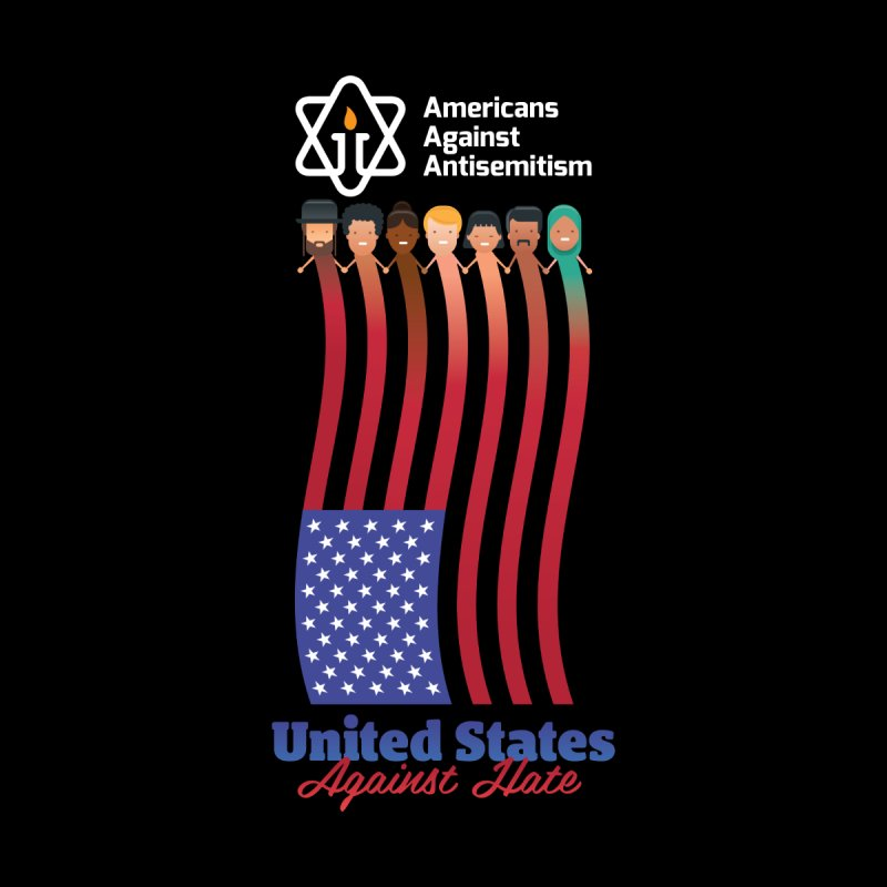 United Faces Against Hate - Dark Background Women's T-Shirt by Americans Against Antisemitism's Artist Shop