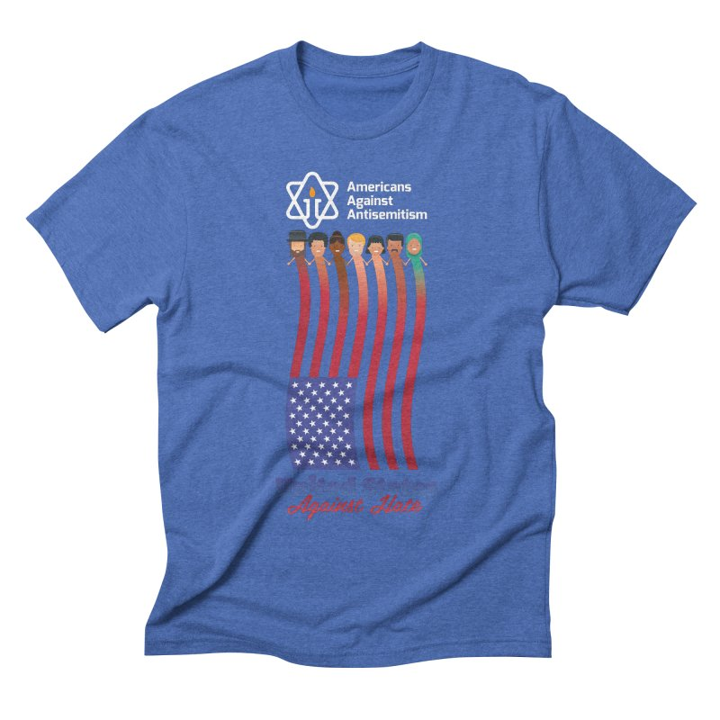 United Faces Against Hate - Dark Background Men's T-Shirt by Americans Against Antisemitism's Artist Shop