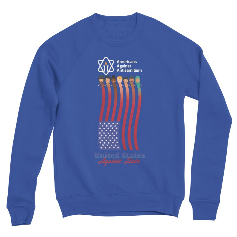 United Faces Against Hate - Dark Background Women's Sweatshirt by Americans Against Antisemitism's Artist Shop