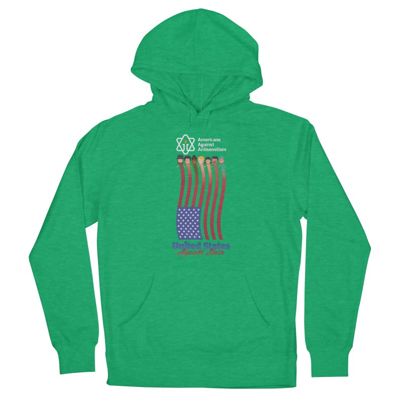 United Faces Against Hate - Dark Background Women's French Terry Pullover Hoody by Americans Against Antisemitism's Artist Shop