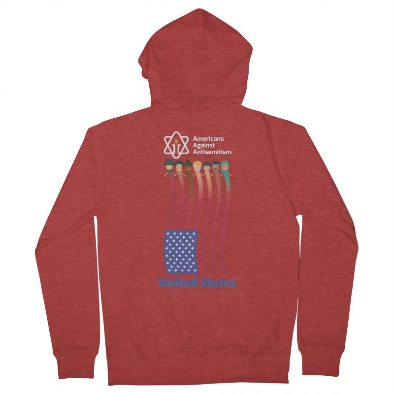 United Faces Against Hate - Dark Background Women's French Terry Zip-Up Hoody by Americans Against Antisemitism's Artist Shop