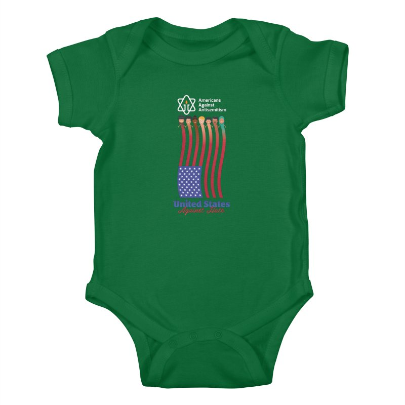 United Faces Against Hate - Dark Background Kids Baby Bodysuit by Americans Against Antisemitism's Artist Shop