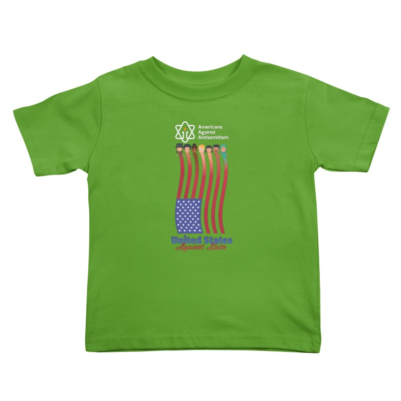 United Faces Against Hate - Dark Background Kids Toddler T-Shirt by Americans Against Antisemitism's Artist Shop
