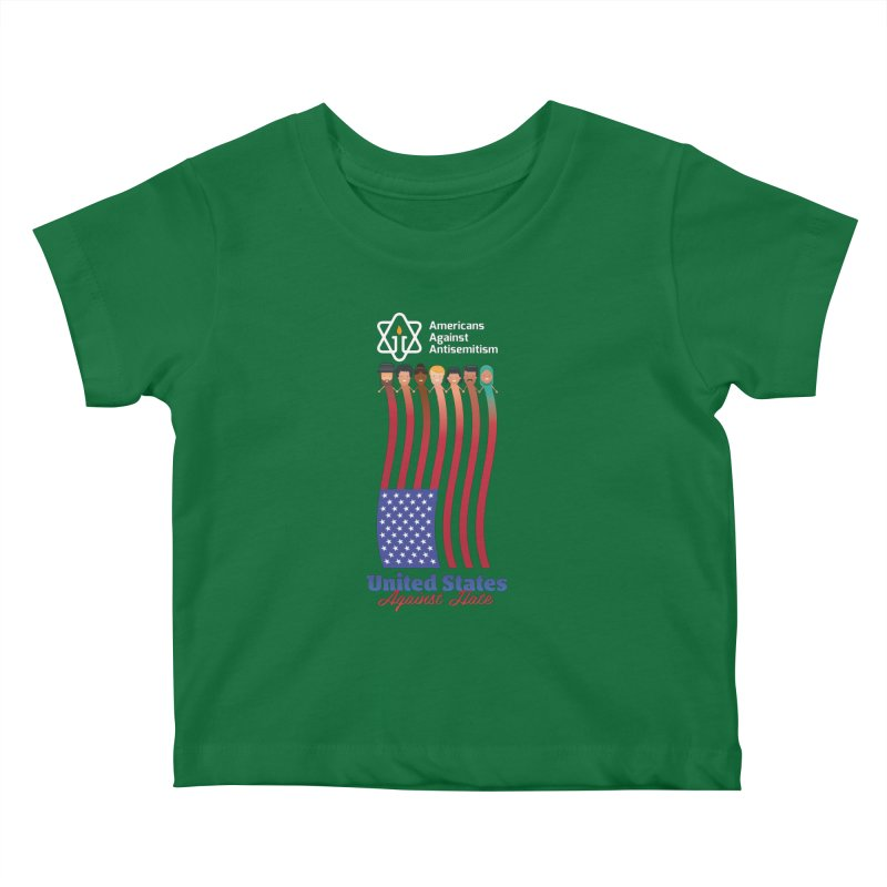 United Faces Against Hate - Dark Background Kids Baby T-Shirt by Americans Against Antisemitism's Artist Shop