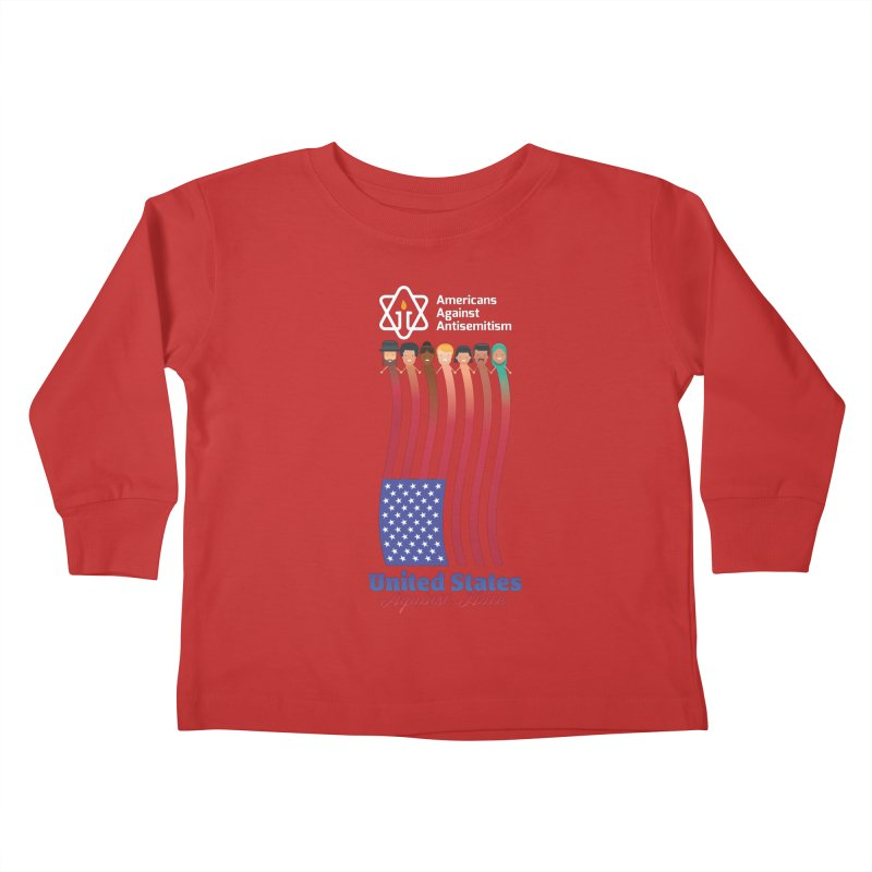 United Faces Against Hate - Dark Background Kids Toddler Longsleeve T-Shirt by Americans Against Antisemitism's Artist Shop