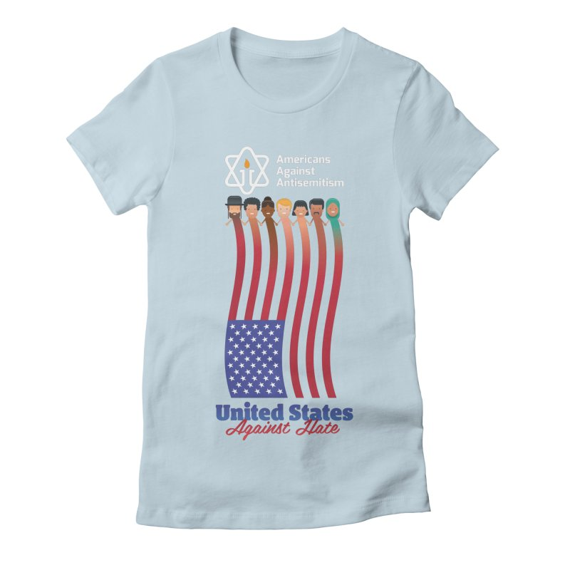 United Faces Against Hate - Dark Background Women's Fitted T-Shirt by Americans Against Antisemitism's Artist Shop