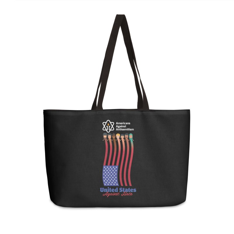 United Faces Against Hate - Dark Background Accessories Weekender Bag Bag by Americans Against Antisemitism's Artist Shop