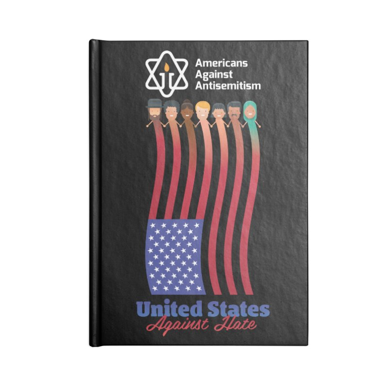 United Faces Against Hate - Dark Background Accessories Blank Journal Notebook by Americans Against Antisemitism's Artist Shop