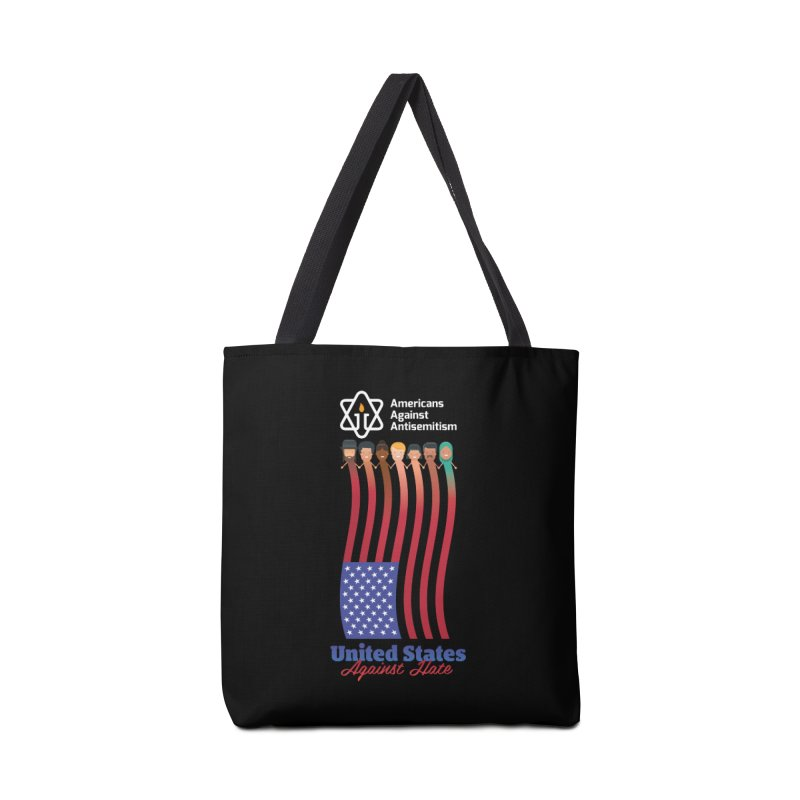United Faces Against Hate - Dark Background Accessories Tote Bag Bag by Americans Against Antisemitism's Artist Shop