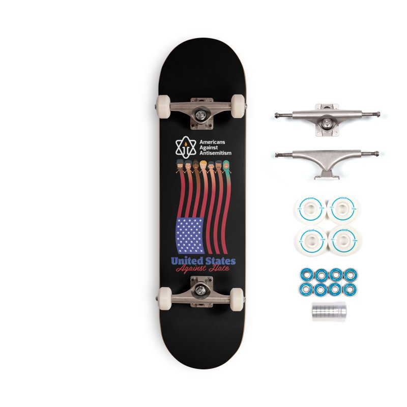 United Faces Against Hate - Dark Background Accessories Skateboard by Americans Against Antisemitism's Artist Shop