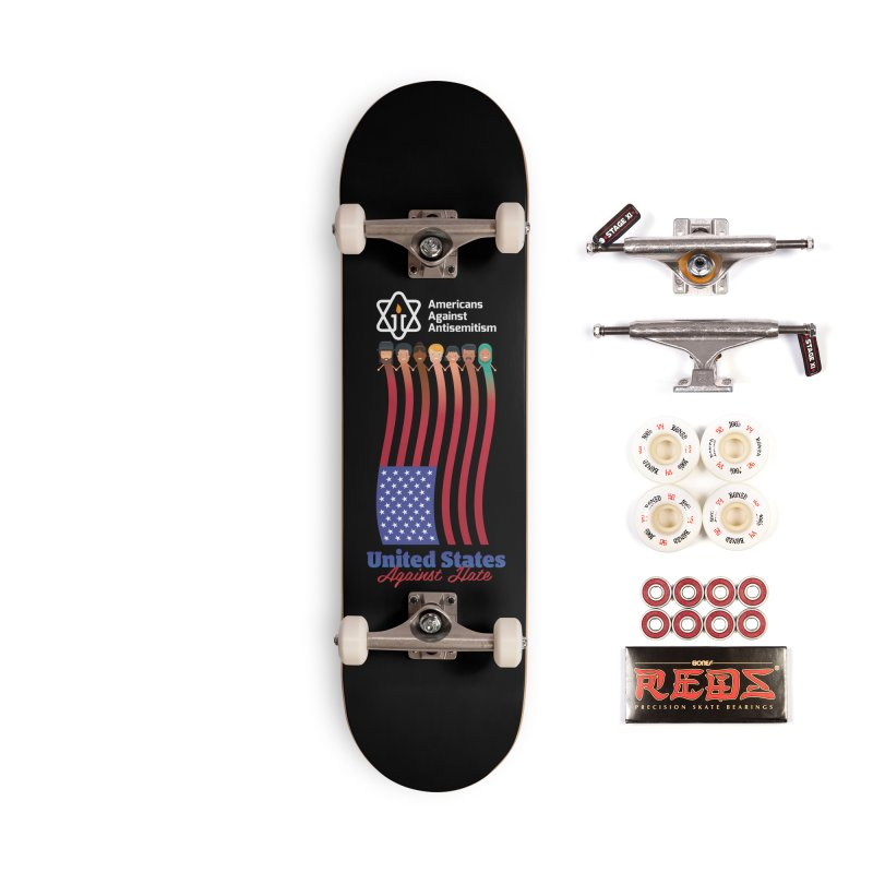 United Faces Against Hate - Dark Background Accessories Complete - Pro Skateboard by Americans Against Antisemitism's Artist Shop