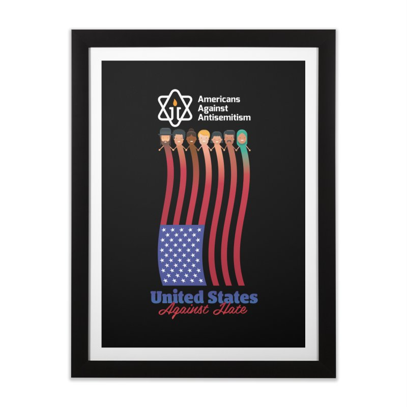 United Faces Against Hate - Dark Background Home Framed Fine Art Print by Americans Against Antisemitism's Artist Shop