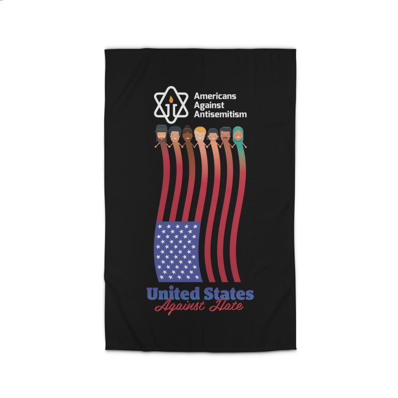 United Faces Against Hate - Dark Background Home Rug by Americans Against Antisemitism's Artist Shop