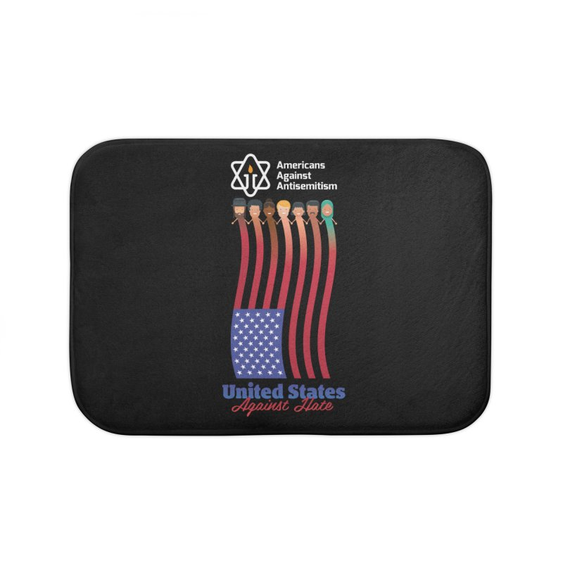 United Faces Against Hate - Dark Background Home Bath Mat by Americans Against Antisemitism's Artist Shop