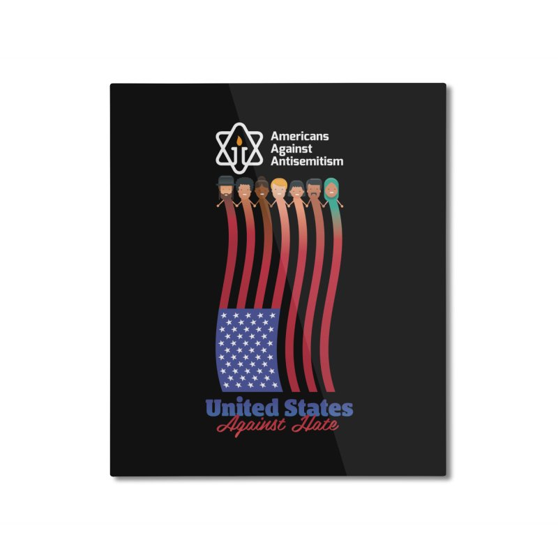 United Faces Against Hate - Dark Background Home Mounted Aluminum Print by Americans Against Antisemitism's Artist Shop
