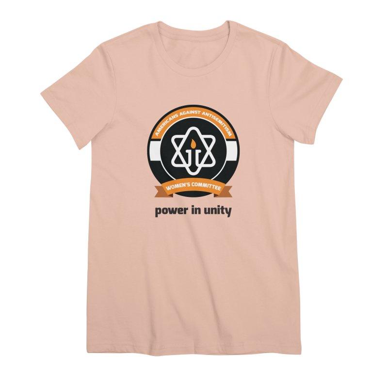 Women's Committee of Americans Against Antisemitism Women's Premium T-Shirt by Americans Against Antisemitism's Artist Shop
