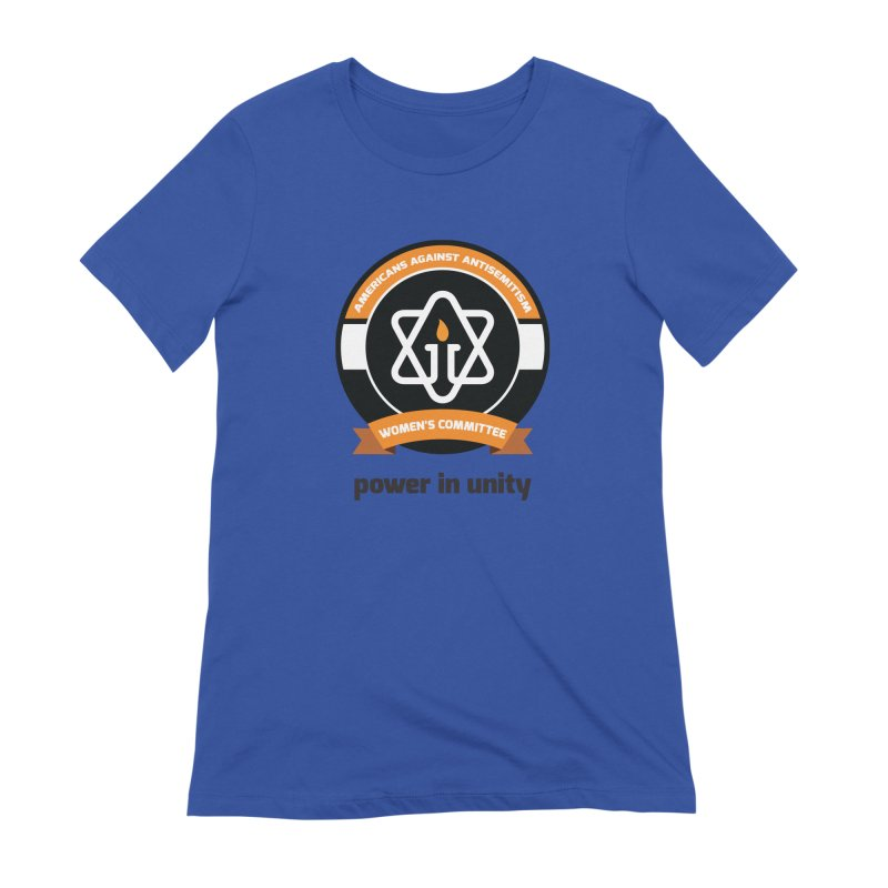 Women's Committee of Americans Against Antisemitism Women's Extra Soft T-Shirt by Americans Against Antisemitism's Artist Shop