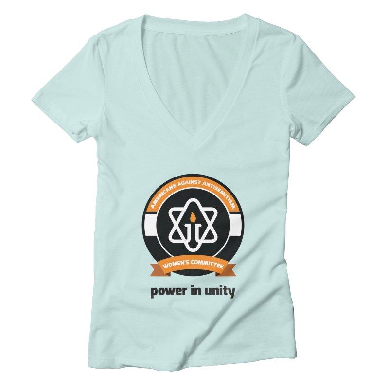 Women's Committee of Americans Against Antisemitism Women's Deep V-Neck V-Neck by Americans Against Antisemitism's Artist Shop