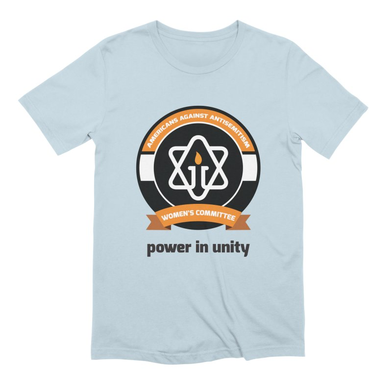 Women's Committee of Americans Against Antisemitism Men's Extra Soft T-Shirt by Americans Against Antisemitism's Artist Shop